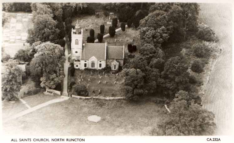 North Runcton church aerial view